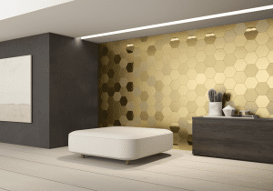 Geom Wall Gold tiles UAE