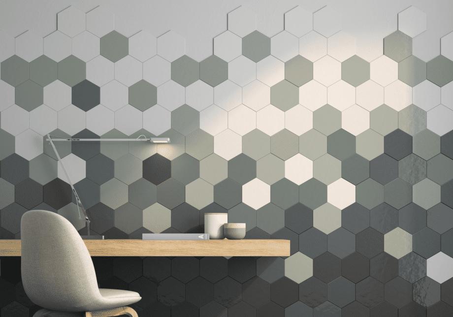 Geom Wall Aquamarine Tile