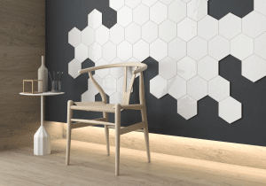 Geom White Wall Tiles
