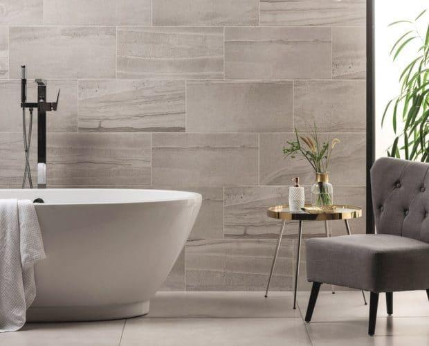 Larger tiles bathroooms